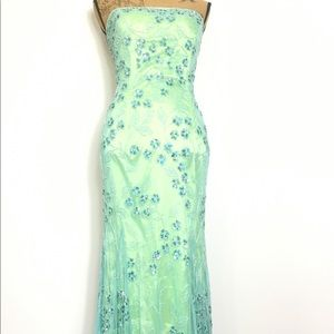 SEAN COLLECTION Dress Sequins Prom Strapless S